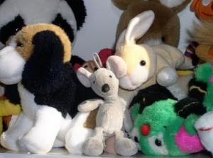 stuffed animals for Blue Santa
