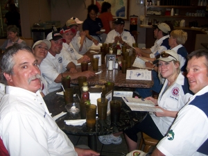 Mr and Mrs Bass Club of Austin Eating after a tournament