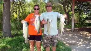 Mr and Mrs Bass Club of Austin Choke Canyon Tournament